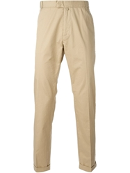 Emporio Armani Chino Trousers Nude And Neutrals