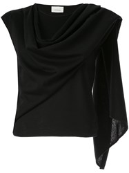 Christophe Lemaire Scarf Top Black