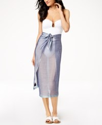 Calvin Klein Chevron Chambray Cover Up And Scarf Night Owl