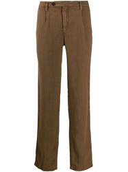 Massimo Alba Creased Casual Trousers Brown