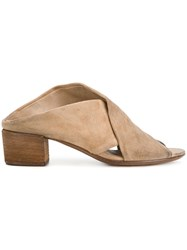 Marsell Cross Strap Mules Nude And Neutrals