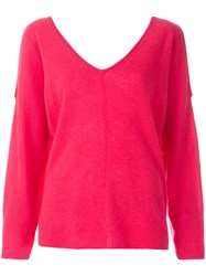 Max And Moi Cold Shoulder Jumper Pink And Purple