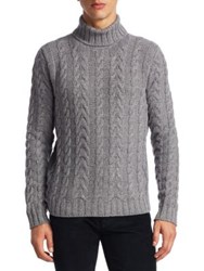 Saks Fifth Avenue Collection Turtleneck Knitted Sweater Grey
