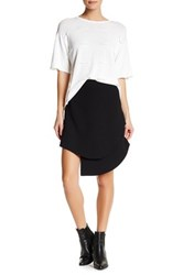 Opening Ceremony Crepe Overlap Mini Skirt Black