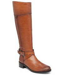 Vince Camuto Jaran Leather Wide Calf Riding Boots Natural