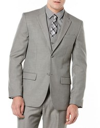 Perry Ellis Textured Suit Jacket Nickel