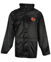 G3 Sports Men's Louisville Cardinals Clutch Hit Hooded Rain Jacket Black