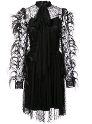 Adam By Adam Lippes Feathered Cocktail Dress Black