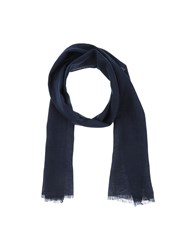 Hardy Amies Accessories Oblong Scarves Men Dark Blue