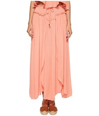 Bishop Young Front Slit Maxi Coral Women's Dress