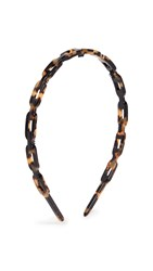 Alexandre De Paris Link Headband Brown Tort