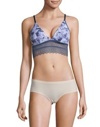 Design Lab Lord And Taylor Alluring Lace Bra Abstract Blue