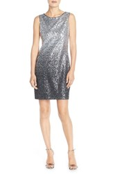 Petite Women's Vince Camuto Ombre Sequin Sheath Dress