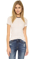 Edith A. Miller Crew Neck Tee Natural Red Celery Blue Stripe