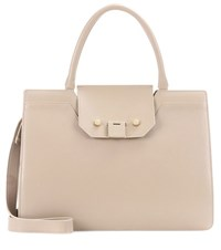Jimmy Choo Rebel Leather Tote Beige