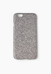 Missguided Silver Glitter Iphone 6 Hard Case