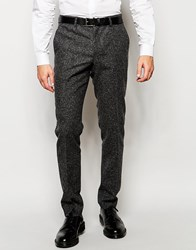 Minimum Trousers With Flecking Charcoal Grey