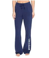 Life Is Good Fleece Lounge Pant Darkest Blue Women's Casual Pants