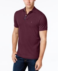 Tommy Hilfiger Men's Classic Fit Ivy Polo Tawny Port