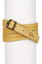 Frye Campus Wrap Leather Cuff Yellow