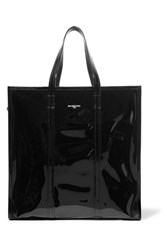 Balenciaga Bazar Patent Leather Tote Black