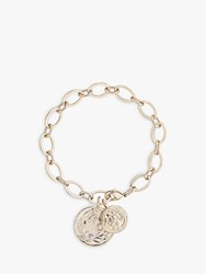 Karen Millen Double Coin Chain Bracelet Pale Gold