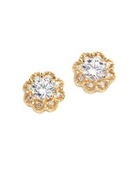 Lord And Taylor 18K Gold Over Sterling Silver Cubic Zirconia Earrings