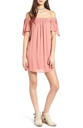 One Clothing Women's Off The Shoulder Shift Dress