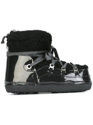 Maison Martin Margiela Mm6 Faux Shearling Trimmed Boots Black