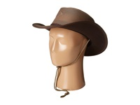 Stetson Mesh Covered Safari With Chin Cord Walnut Safari Hats Brown