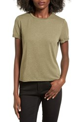 Women's Bp. Cuffed Shrunken Tee Olive Burnt