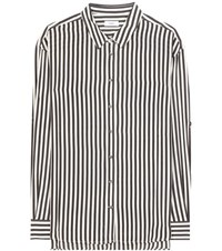 Closed Striped Silk Blouse Black
