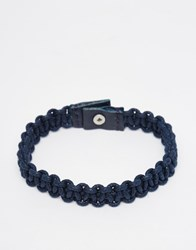 Jack And Jones Jack And Jones Leather Bracelet Navy
