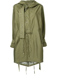 Monse Military Coat Cotton Green