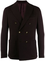 Eleventy Double Breasted Coat Red