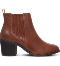 Miss Kg Taurus Heeled Ankle Boots Tan