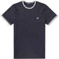 Fred Perry Twin Tipped Tee Blue