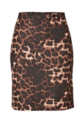 Steffen Schraut Animal Print Mini Skirt