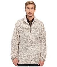 True Grit Frosty Tipped Pile 1 4 Zip Pullover Brown Long Sleeve Pullover