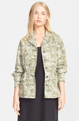Atm Anthony Thomas Melillo 'Camo Field' Cotton Twill Jacket Moss Combo