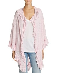 Minnie Rose Ruffle Shawl Rosa