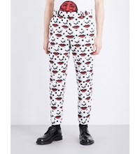 Comme Des Garcons Fornasetti Print Crepe Trousers Pattern