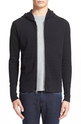 Wings Horns Men's Slub Full Zip Hoodie Black