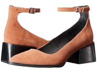 Sol Sana Donna Mary Jane Cognac Suede Women's Maryjane Shoes Brown