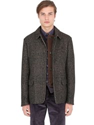 Trussardi Prince Of Wales Alpaca And Cotton Jacket