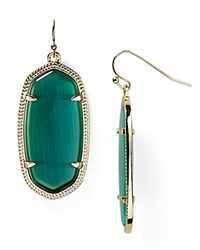 Kendra Scott Elle Earrings Gold Dark Green