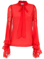 Isolda Lily Silk Blouse Red