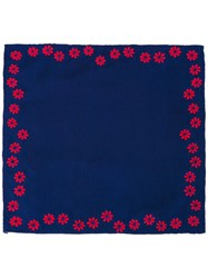 Jupe By Jackie Floral Print Pocket Square Blue