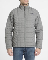 The North Face Grey Thermoball Waterproof Synthetic Insulated Down Jacket