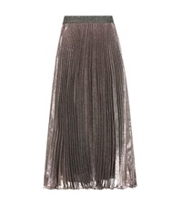 Christopher Kane Metallic Silk Blend Skirt Multicoloured